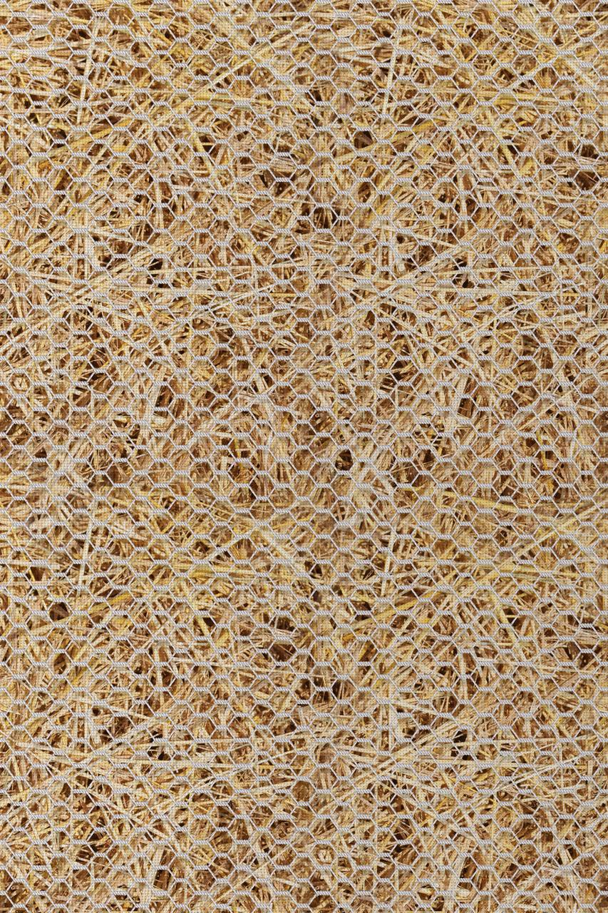 Chicken Wire On Straw Patterned Cross Stitch Fabric