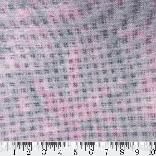 Damson Berry Hand Dyed Effect Cross Stitch Fabric