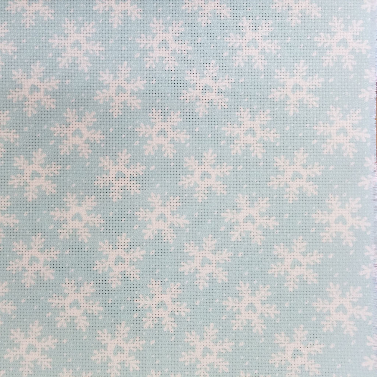 Funky Snowflakes Patterned Cross Stitch Fabric