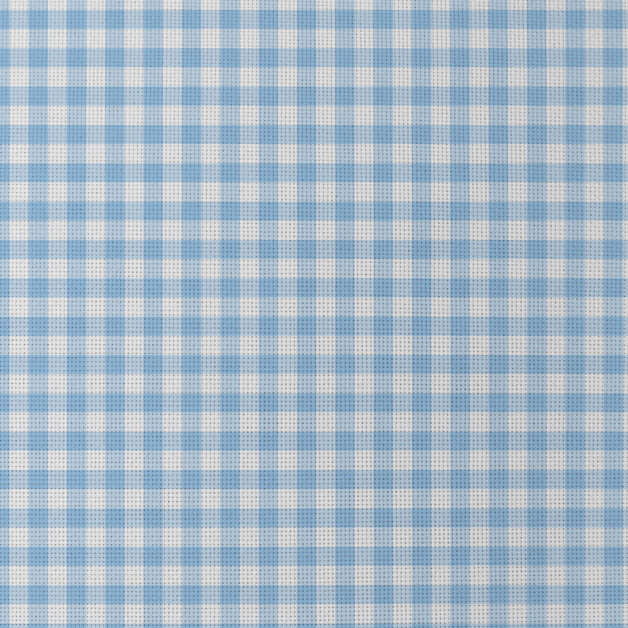 Blue Gingham Patterned Cross Stitch Fabric