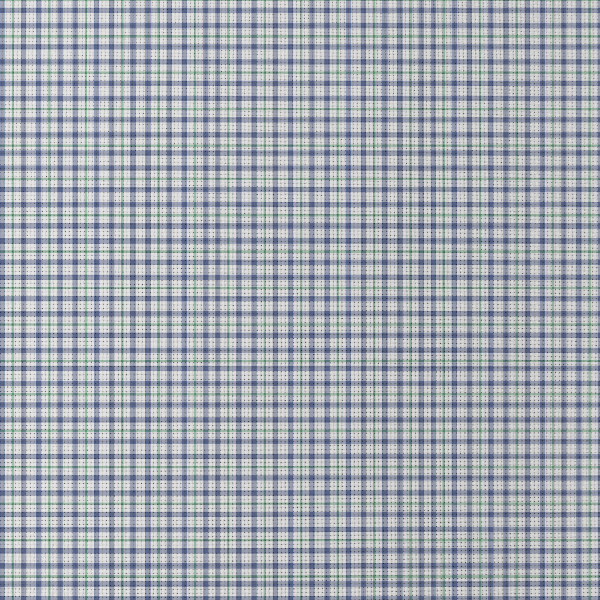 Blue And Green Check Patterned Cross Stitch Fabric