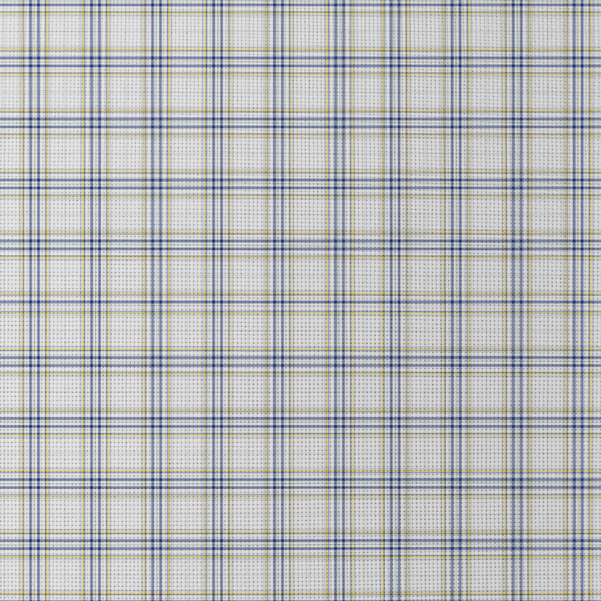 Blue And Yellow Check Patterned Cross Stitch Fabric