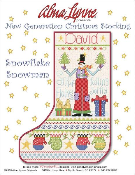Snowflake Snowman Stocking