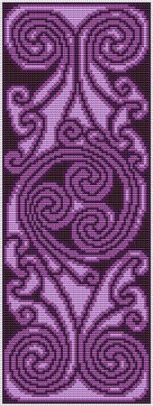 Celtic Spiral Banner - Purple