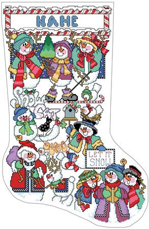 Snowmen Sampler Stocking