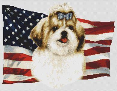 Patriotic Shih Tzu - Golden