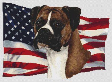 Patriotic Boxer - Natural Ears