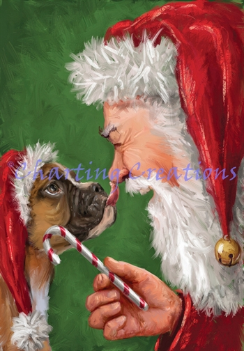 Santa And Boxer - Click Image to Close