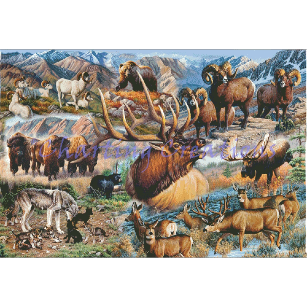 North American Animals Collage