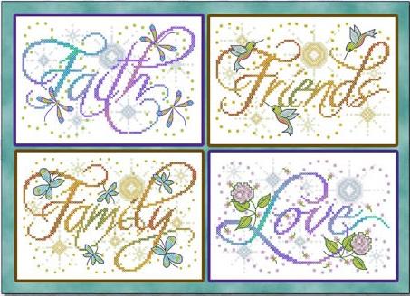 JE235 Cross Stitch Chart Winters Grace