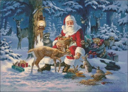 Santa In Forest