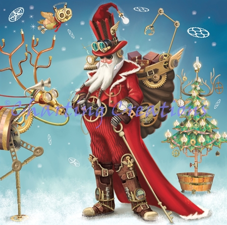 Small Steampunk Santa