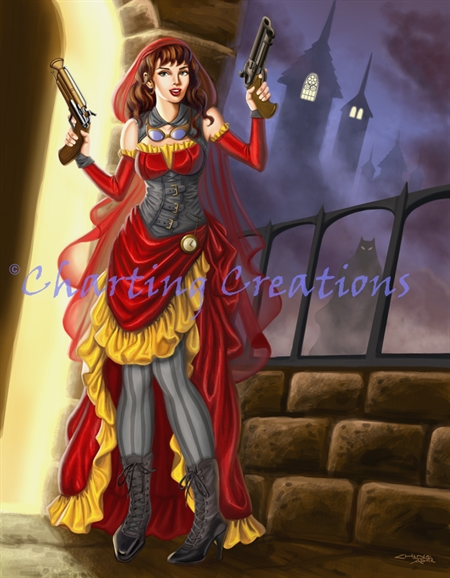 Steampunk Red Ridinghood