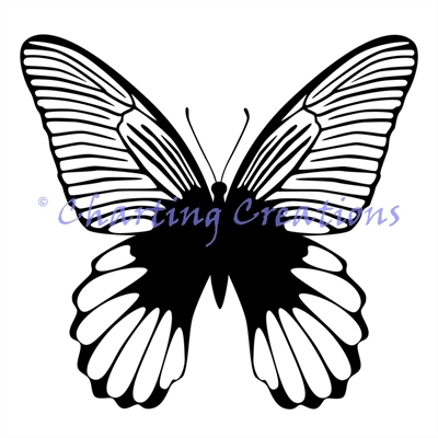 Butterfly Silhouette 1 - Click Image to Close