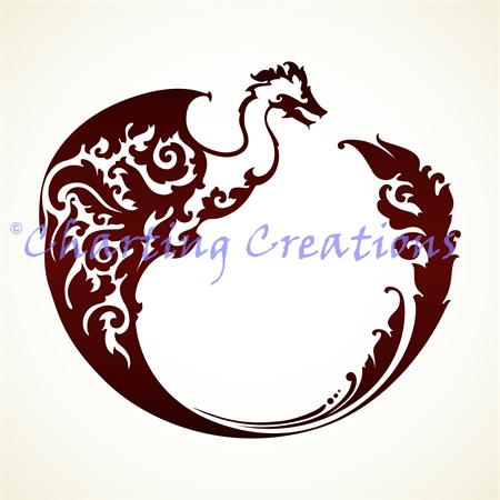 Dragon Circle Silhouette