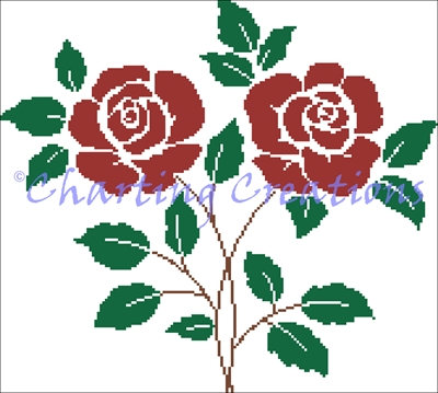 Roses Sampler Filigram Counted Cross Stitch Pattern