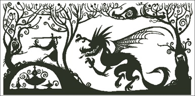 The Princess And The Dragon Silhouette