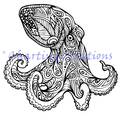 Zentangle Octopus Silhouette