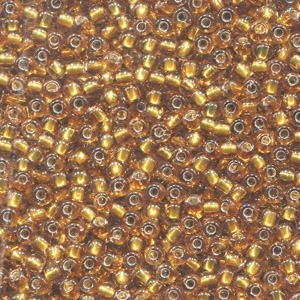 02048 Golden Olive Glass Seed Beads