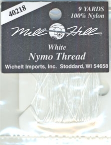 White Nymo Thread 9 Yard